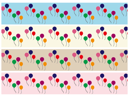 Balloon pattern material set