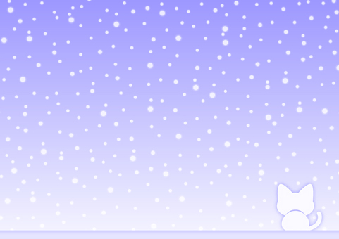 Winter sky and cat background material