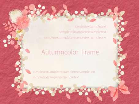 Fall color frame ver 83