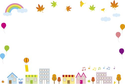 Autumn townscape