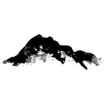 Ink painting, mountain