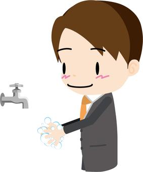 Hand wash (salaryman)