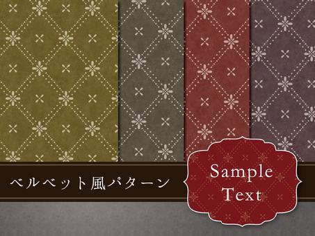Velvet pattern pattern
