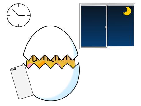 Smartphone addiction egg