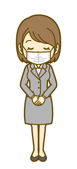 Female (office worker): E_Mask 02FS