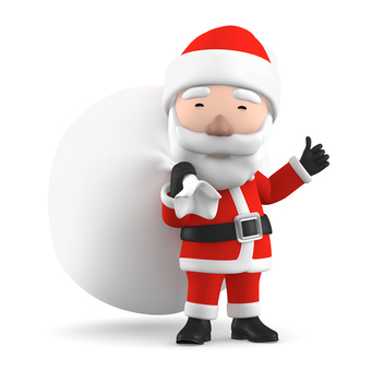 Santa Claus 3D illustration