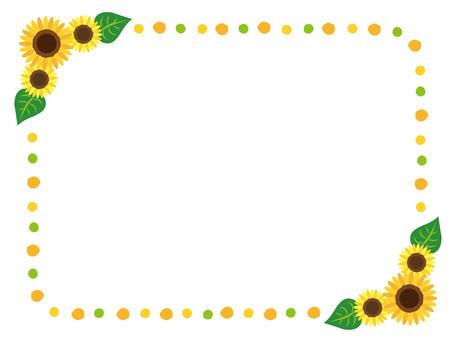 Sunflower frame _ yellow _ green