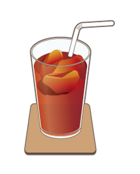 Ice Tea _ Coaster _ With Straw