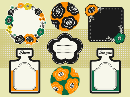 Scandinavian design wind flower card