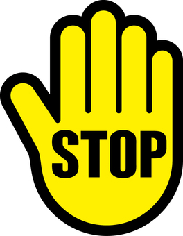 Hand _ stop _ sign _ 02 _ yellow _ black