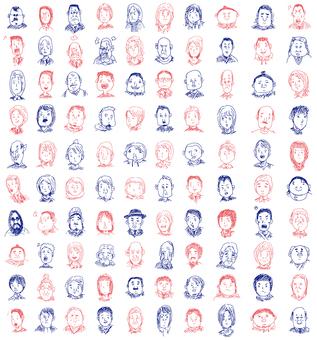 100 Japanese illustrations
