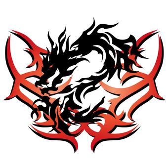 tribal-dragon-007