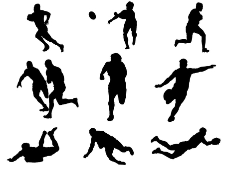 Rugby _ silhouette