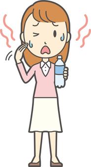 핑크 소녀 긴 머리 -259- 전신