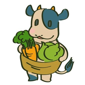 Cattle and vegetables