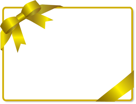 Yellow ribbon decorative frame