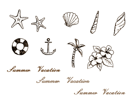 Summer Illustration - Sepia