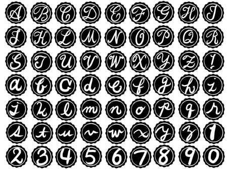 Alphabet stamp B & W