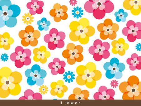 화려한 꽃 배경 · 벽지