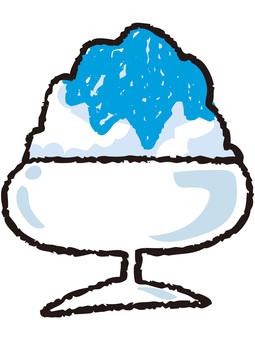 Shaved ice (Blue Hawaii)