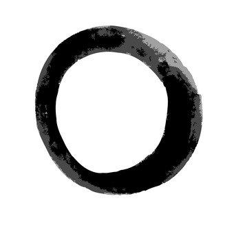 일본식의 원형 (블랙)
