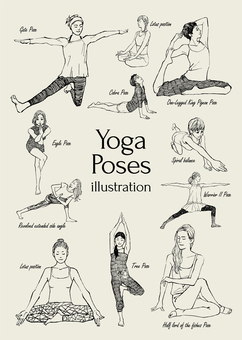 Yoga pose illustration