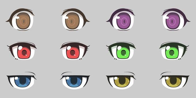 ตา (สไตล์อะนิเมะ) 4