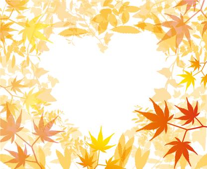 Autumn leaves storm frame _ 1