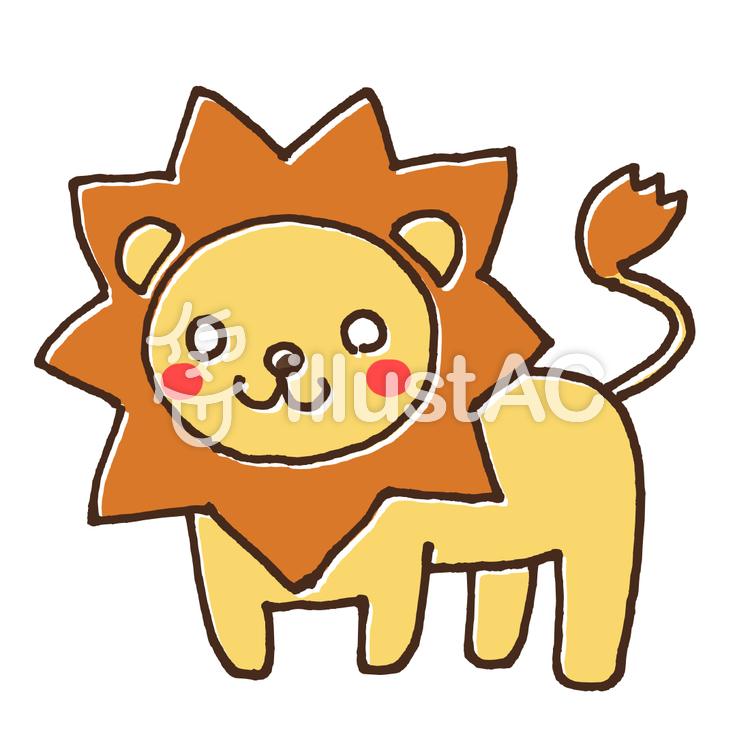 ライオンのかわいい動物イラスト2イラスト No 1608725無料