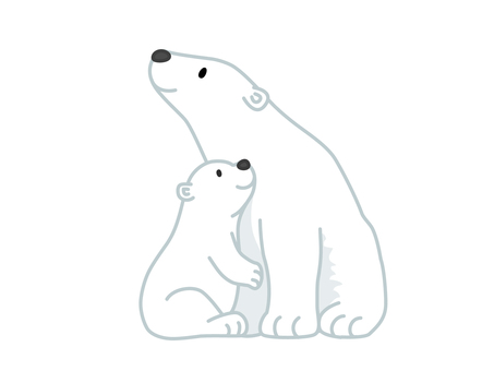 Polar bear mother and child (Oyako)