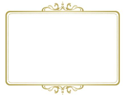 Frame elegant gold 2