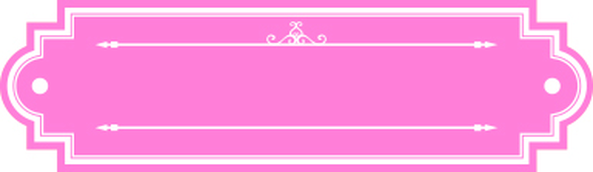 Pink ornamental frame