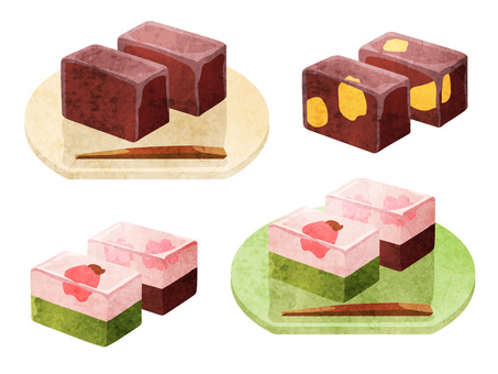 Cooking_Japanese confectionery_Yotei_Watercolor