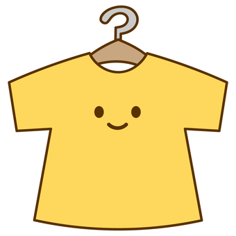 Smiling short-sleeved T-shirt with hanger