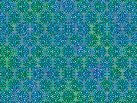 Blue and green tile wallpaper