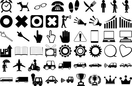 Monochrome icon set