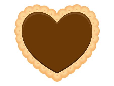 Heart cookie (brown)