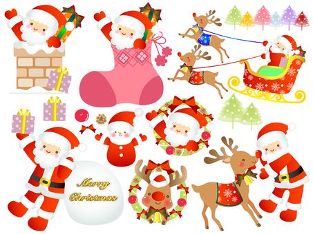 크리스마스 / 산타와 순록