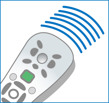 Television remote control electromagnetic wave channel icon picture