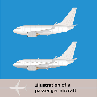 Airliner plane b-737 2