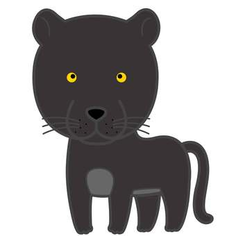 Animal illustration-black leopard
