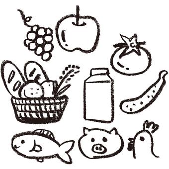 Crayon's food system illustration