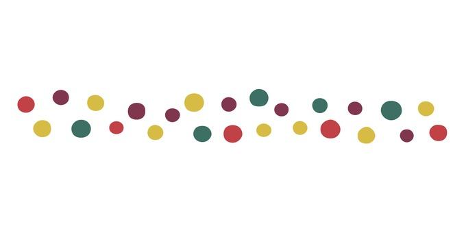 Autumn colored dot line