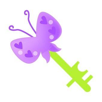 Key of butterfly decoration