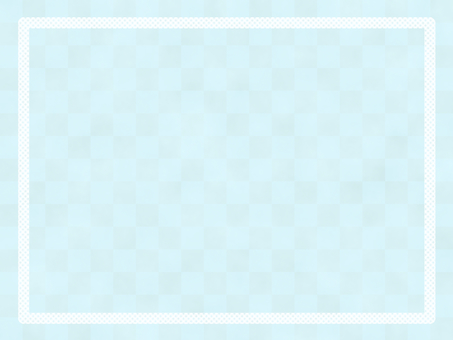 Simple frame light blue