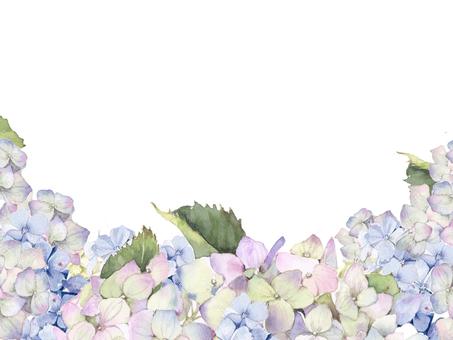 Flower frame 96 - blue hydrangea frame