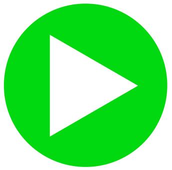 円形アイコン 三角矢印 緑01