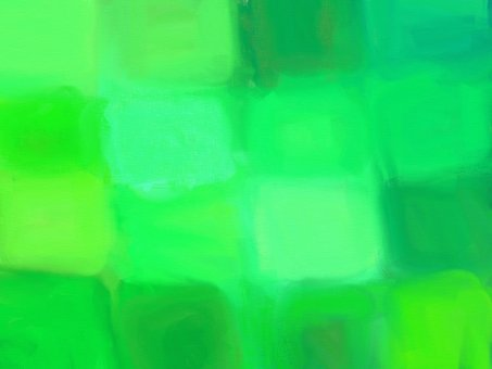 Watercolor style green tile