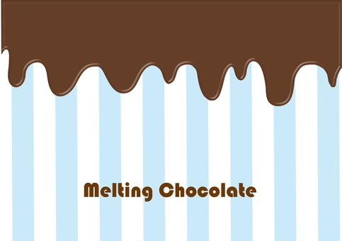 熔化巧克力融化
