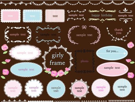 Girly frameset